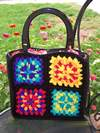 Granny Square Pucker Purse