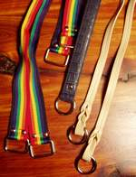 Purse Handles - webbing and faux leather