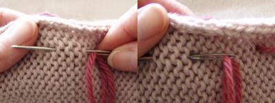 Running stitch tutorial